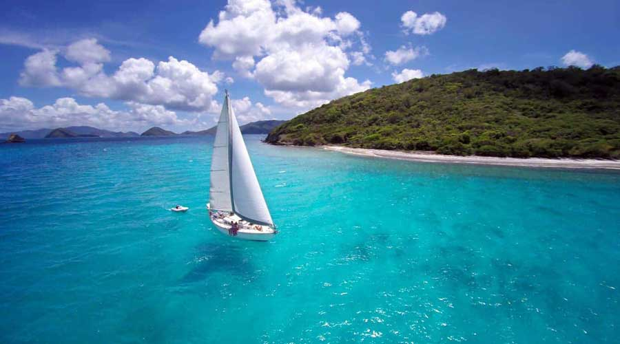 Sailing in the Carribean