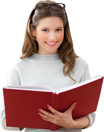 girl holding book, agent